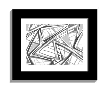 11B lines 2 framed black A