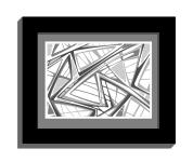 11B lines 2 framed black B