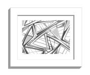 11B lines 2 framed white A
