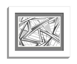 11B lines 2 framed white B