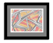 11B tiles 1 framed black B