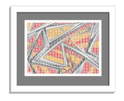 11B tiles 1 framed white B