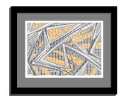 11B tiles 2 framed black B