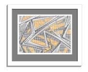 11B tiles 2 framed white B